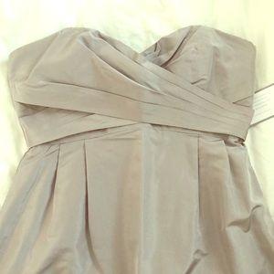 J. CREW Silk Taffeta Gown - Driftwood